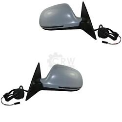Exterior Mirror Set For Audi A6 C6 Type 4f Year 08-11 Electric 17-pin Heated