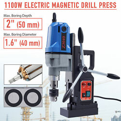 1100w 12000n 2 Depth Magnetic Base Drill Force Tapping Press Boring Magnet New