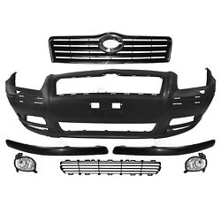 Set Bumper Front+fog + Accessories For Toyota Avensis T25 Year 03-06 Sra