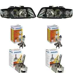 Xenon Headlight Set For Audi A4 8e Year 12/02-09/04 D1s +h7 Incl. Lamps