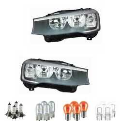 Halogen Headlight Set H7/h7 For Bmw X3 X4 Incl. Lamps