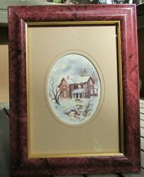 Millie Gift Smith Original 4x3 Framed And Matted Watercolor This Old Farmhouse