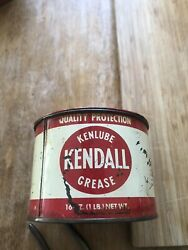 Vintage Advertising Kendall Kenlube Grease Can 1 Lb Service Station