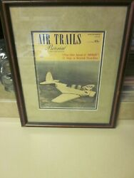 Ww2 U.s. Army Air Corps Air Trails Pictorial A Street And Smith Publication Framed