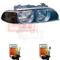 Headlight Right For Bmw 5er E39 Year 11/95-10/00 Incl. Motor Hb3 +hb4 Drp