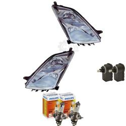 Headlight Set For Toyota Prius Ii H4 Incl. Philips Lamps Motor