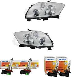 Halogen Headlight Set For Toyota Auris 10.06- H11/hb3 With Motor Incl. Lamps