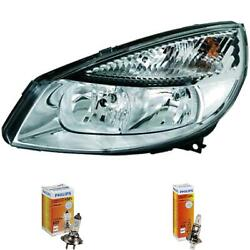 Headlight Left For Renault Scenic Ii Jm Phase I Year 03-06 Hella H7 +h1