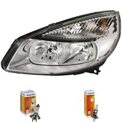 Headlight Right For Renault Scenic Ii Jm Phase I Year 03-06 Hella H7 +h1
