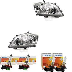 Halogen Headlight Set For Toyota Auris Year 03/10- H11/hb3 With Indicator