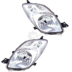 Headlight Set Right And Left For Toyota Yaris Xp9 Year 06-08 Valeo H4