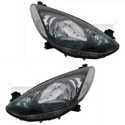 Headlight Set Right And Left H4 For Mazda 2 De_ Dh _3