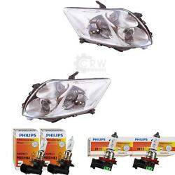 Headlight Set For Toyota Auris Zze15 Ade15 Zre15 10.06- Incl. Of Philips
