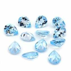 Royal Natural Sky Blue Topaz 5x7 Mm To 12x16 Mm Pear Faceted Cut Loose Gemstone