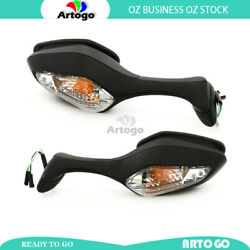 L/h+ R/h Hand Rearview Mirror With Signal Light Fit Honda Cbr1000 2008 2009 2010