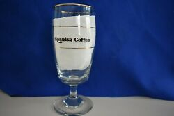4 Gold Rimmed Stemmed Spanish Coffee Glasses-new In Box