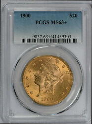 1900 20 Liberty Gold Double Eagle Ms63+ Pcgs Plus Graded