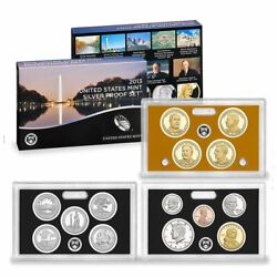 2013-s U.s. Silver Proof Set Complete 14-coin Set, With Box And Coa