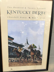 """Kentucky Derby May 5, 2001 Churchill Downs Anthony Benedetto Poster 29x19"""""""