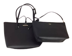 GUESS Handbag Bobbi Inside Out 2 for 1 Tote Black Bags Brand New Factory Seal $50.00