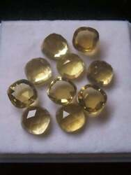 Perfect Natural Citrine 5mm To 15mm Cushion Rose Cut Loose Gemstone