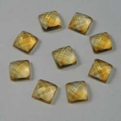 Perfect Natural Citrine 8mm To 15mm Square Checker Cut Loose Gemstone
