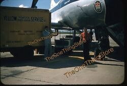 Jerry Lewis Trumpet Airport United Airlines 1950s 35mm Slide Kodachrome Aircraft