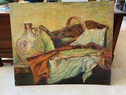 Original French Still Life Oil Painting Home Of Charles Faudree