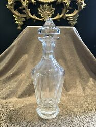 Vintage Waterford Clear Crystal Liquor Decanter With Stopper Marked