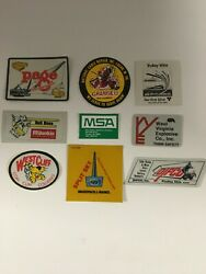 Vintage Assorted Coal Mining Hard Hat Collector Stickers Set Of9