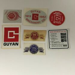 Vintage Assorted Coal Mining Hard Hat Collector Stickers Set Of 7