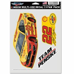 Joey Logano 2021 Wincraft 22 Pennzoil/shell Decal Sheet3 Decals Multi Use