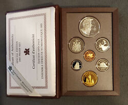 Rare Limited Canada 1995 Silver Double Dollar 50 25 10 5 1 Cent Mint Proof Coin