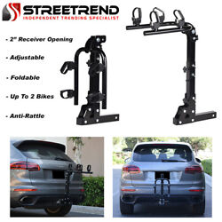Hitch Mount Bike Rack 2-bicycle Style Adjustable Foldable Trailer Carrier 2 S3