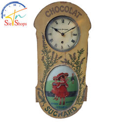 Antique Chocolat Cacao Suchard Advertising Wall Clock
