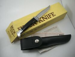 Vintage 1992 Buck 102 Woodsman Knife And Sheath Never Used In Box
