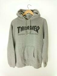 Thrasher - Without A Logo Quality Display Gray Cotton Hoodie 6520