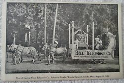 Early Bell Telephone Parade Float With Drivers And Horses Postcard Aug 1909
