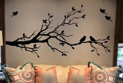 Large Tree Branch in BLACK MATTE Material Wall Decal Deco Art Sticker Mural