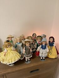 Vintage Collectable Kaiser Chicago Dolls With Stands, Lot Of 11, Excellent