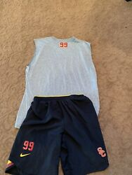 Usc Trojans Nike Football Shorts Practice Conditioning Large Xlteam Issued 99