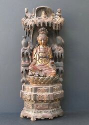 Antique Autel Guanyin Wooden China