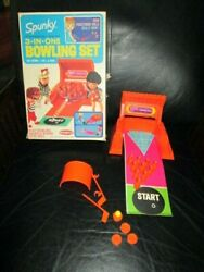 Rare Vintage Remco Heidi Spunky Jan Doll Bowling Set 3 In One Games