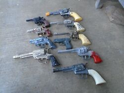 My Vintage Toy Cap Gun Lot Collection Cast Some Work Some Not-lot By Chance