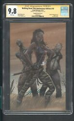 Walking Dead 15th Anniversary Edition 19 Cgc 9.8 10/18 Signed By J.scott Cambell