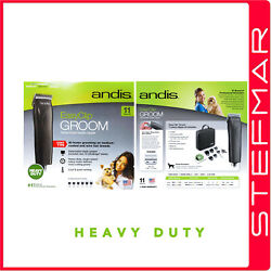 Andis Dog Clippers Heavyduty Easyclip Groom Mbg2 Black Clipper 11 Piece Kit