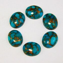Blue Copper Turquoise Natural Oval Cabochon 12x16mm To 18x25mm Loose Gemstone