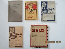 Photograph Wallets X 9-vintage Issues-one Lot
