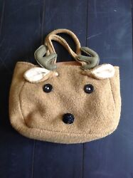 Winter Reindeer Fleece Purse Tote Girls Christmas Gift $8.00