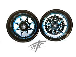 Cbr1000rr Stock Size Black And Candy Blue Switchback Wheels 2008-2011 Cbr1000rr